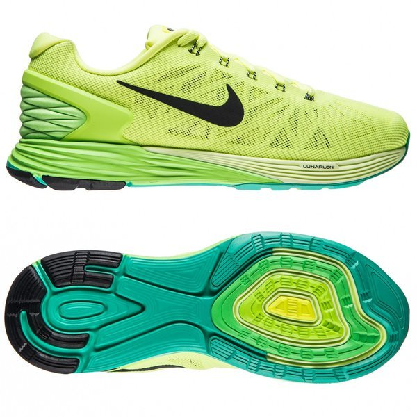 2c21bc034bf1 Nike Running Shoes Lunarglide 6 Volt Flash Lime Liquid Lime Black ...