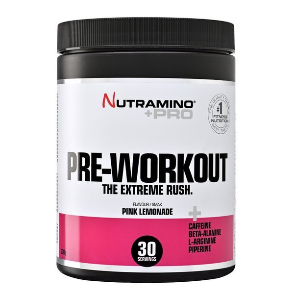 Nutramino +Pro Poudre Pre-Workout Limonade Rose 315g