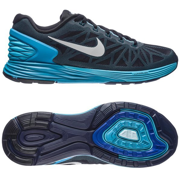 detailed look a1f3a e9fd8 Nike Running Shoe Lunarglide 6 Black Blue Lagoon Clearwater White Women    www.unisportstore.com