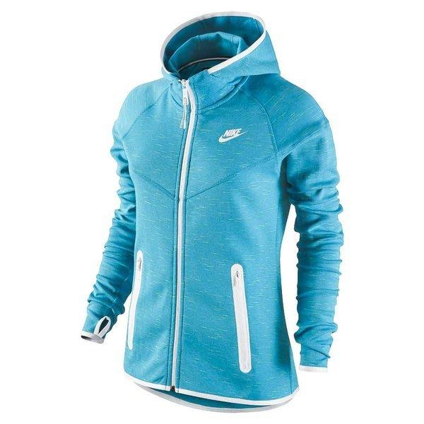 27466dce78a3 nike hoodie tech fleece fz light blue lacquer white women ...