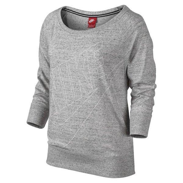 Nike Sweatshirt Gym Vintage Grauweiß Damen