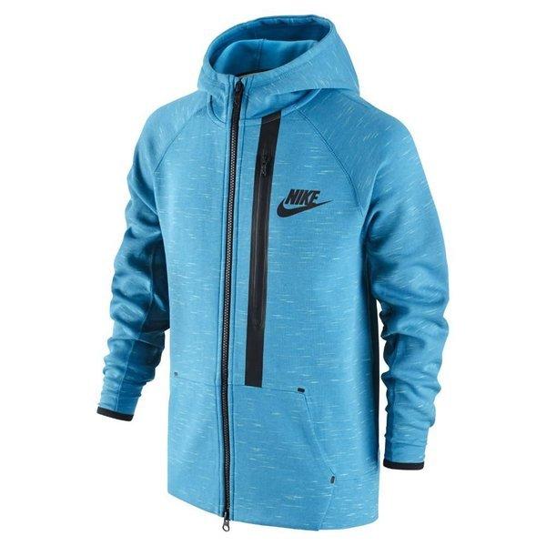 8d3d120743fe nike hoodie tech fleece fz light blue lacquer black kids ...