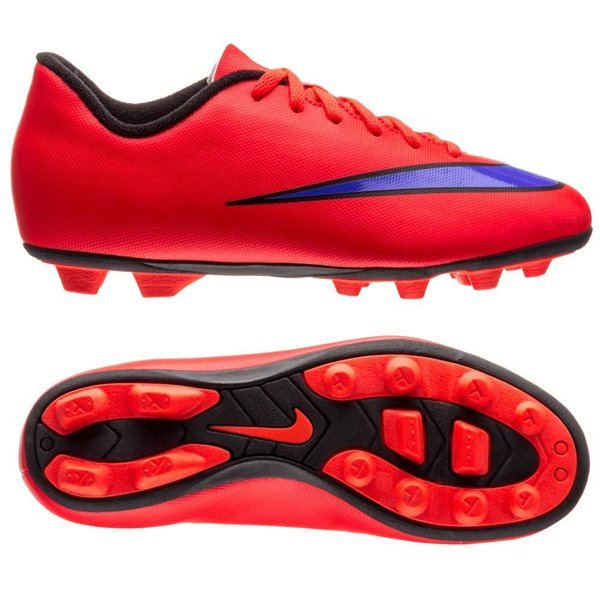 Nike Mercurial Vortex II FG Bright CrimsonPersian VioletBlack Kids
