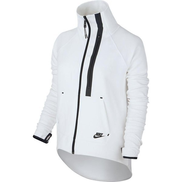 eefaeb5b2aac nike tech fleece moto cape white black women ...