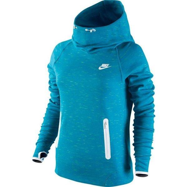 nike hoodie tech fleece light blue lacquer white women ... 312a61b1a
