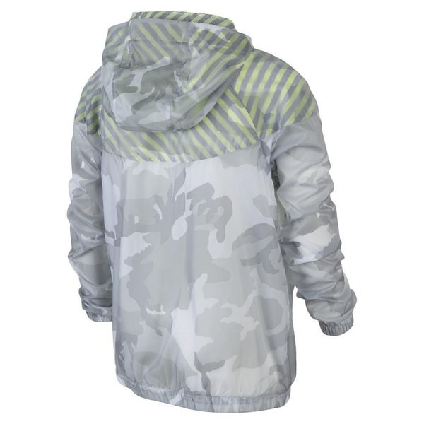 Nike Windrunner Flight Weight Camo GrauNeon Kids | www