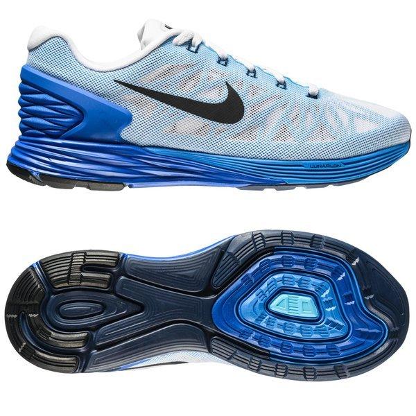 bdf7c738443a Nike Running Shoe Lunarglide 6 White Blue Lyon Blue