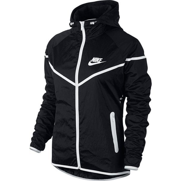 Nike Windrunner Tech Aeroshield SortHvid Dame