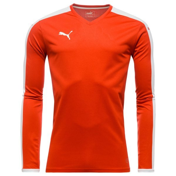 Puma Maillot Pitch M/L Rouge/Blanc