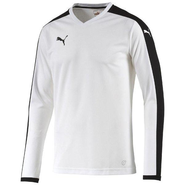 84fc7ea9cac2 Puma Football Shirt Pitch L S White Black Kids