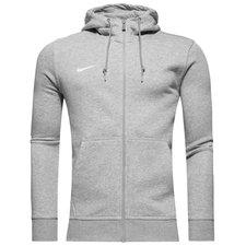 Nike Hoodie Team Club FZ Grijs
