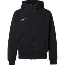 Nike Hoodie Team Club FZ Zwart Kinderen