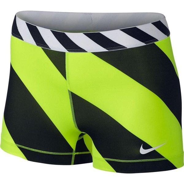 Nike Tights Pro Diagonal Stripe 7.5 cm NeonSort Dame | www