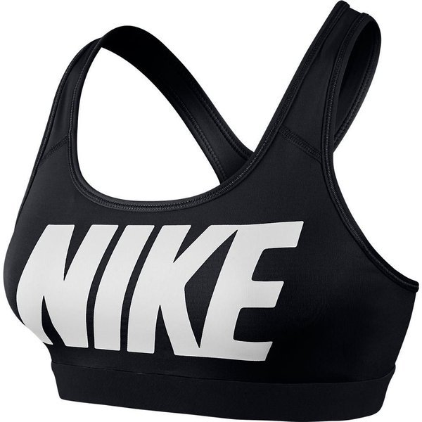 Nike Sports Bra Pro Classic Logo Black White Women Www Unisportstore Com