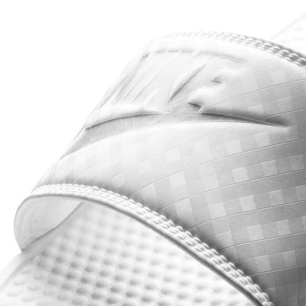 2bd5de1a491d Nike Badesandal Benassi JDI Hvid Sølv Dame