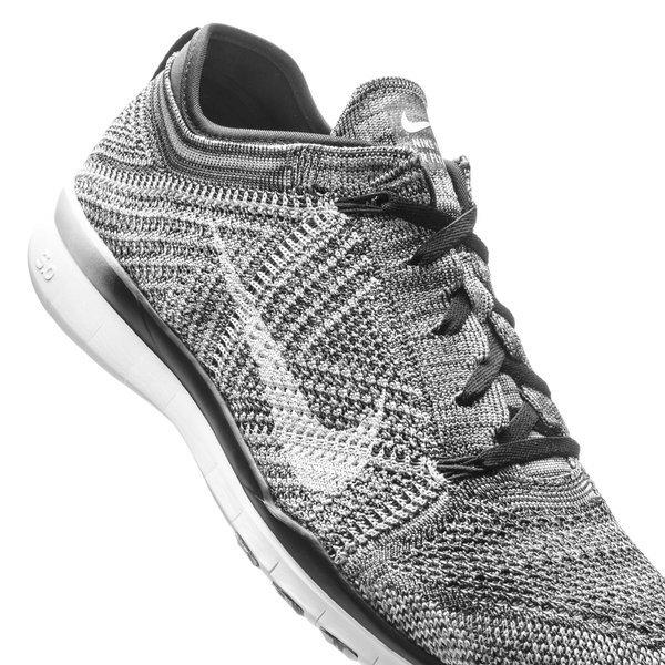 free shipping dadfe 22fd3 Nike Free TR 5 Flyknit Black Wolf Grey White Women