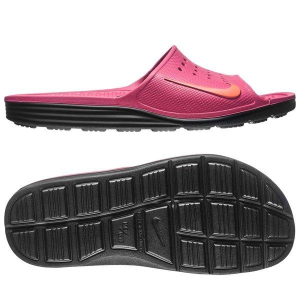 90d4fe438c9290 Nike Slides Solarsoft Slide Fireberry Total Orange Black Women