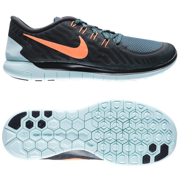 Nike Black Total Orange Free 5.0 Men's Light Aqua Light