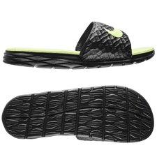Nike Claquettes Benassi Solarsoft 2 - Noir/Jaune Fluo