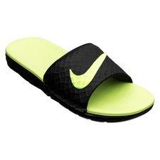 Nike Badelatschen Benassi Solarsoft 2 - Schwarz/Neon