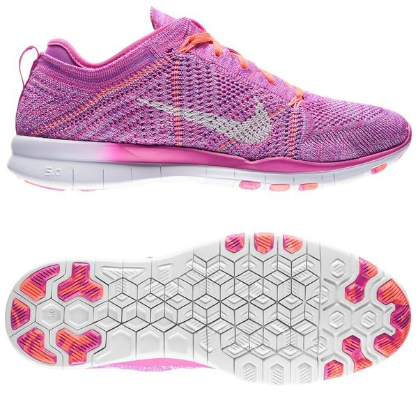 2eb027a07d59 Nike Free TR 5 Flyknit Fuchsia Flash Hot Lava Fuchsia Glow White Women.  Read more about the product. - running shoes. - running shoes image shadow
