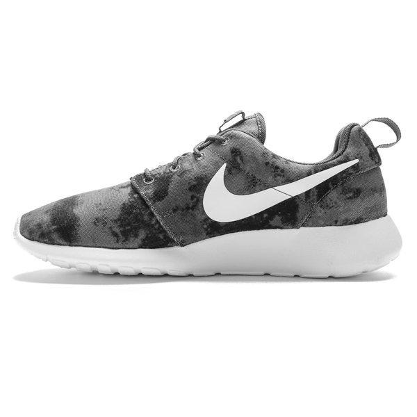 Nike Roshe Una Impresión Gris Oscuro / Blanco-gris Fresco Black- yc48770X