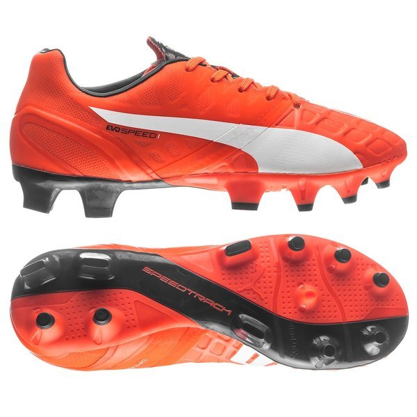 c543f4602b39 Puma evoSPEED 1.4 FG Lava Blast White Total Eclipse Kids. Read more about  the product. - football boots. - football boots image shadow