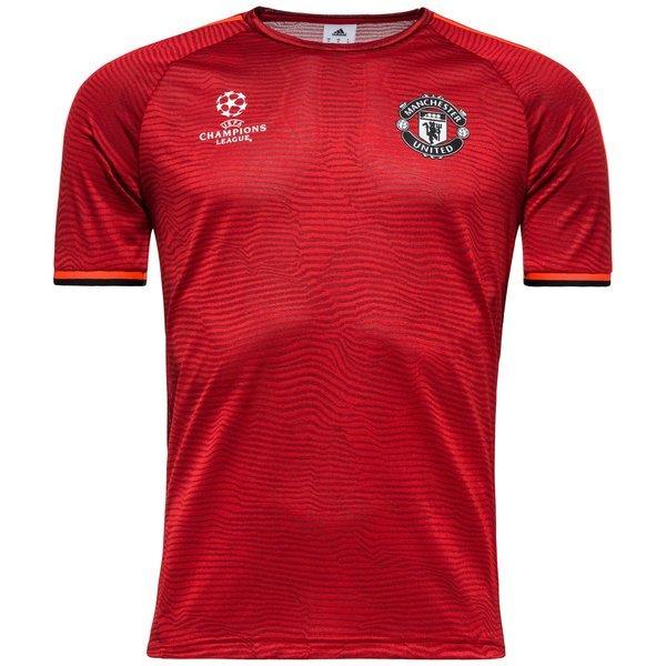 78db5459 Manchester United Trenings T-Skjorte Champions League Rød/Sort | www ...