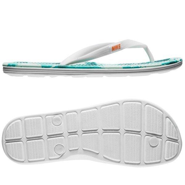 8c9f567e73e8 Nike Badesandal Solarsoft Thong 2 Print Hvit Turkis 0