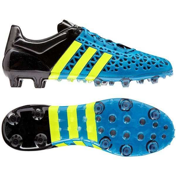 adidas Ace 15.1 FGAG Solar BlueSolar YellowCore Black