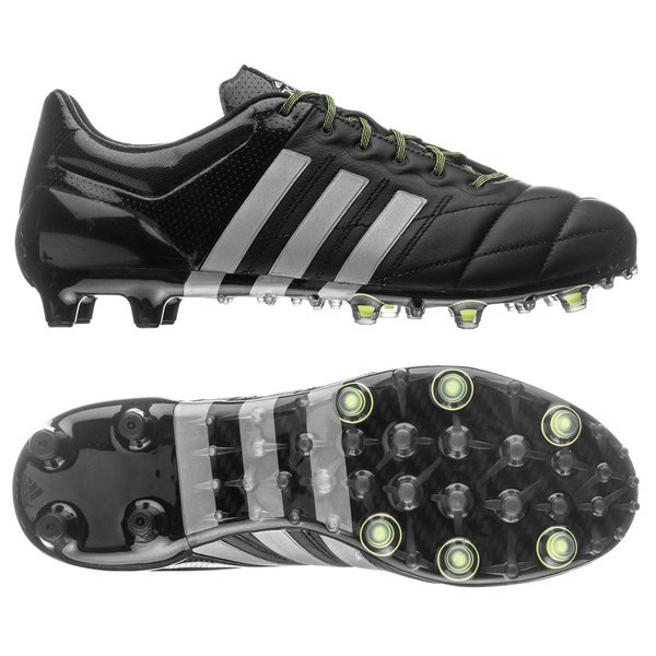 receta Cabina Calendario  adidas Ace 15.1 Leather FG/AG Core Black/Silver Metallic/Solar Yellow |  www.unisportstore.com