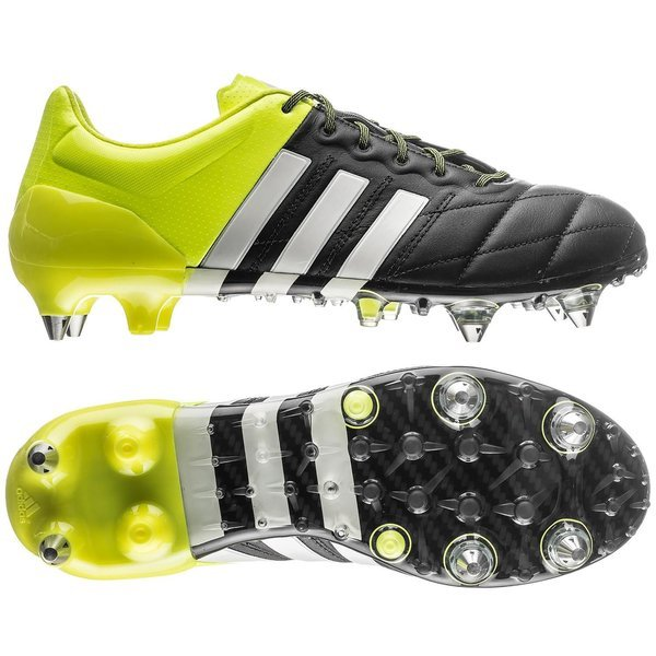 996da258b adidas Ace 15.1 Leather SG Core Black White Solar Yellow PRE-ORDER ...