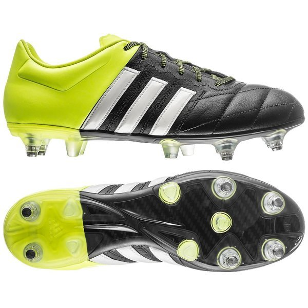 detailed look 193dc c4fa3 adidas Ace 15.2 Leather SG Core Black/White/Solar Yellow PRE-ORDER