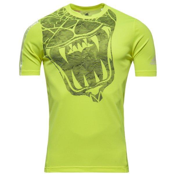 yksityiskohdat 100% aito suuri alennus adidas Training T-Paita X Keltainen/Valkoinen Lapset | www ...