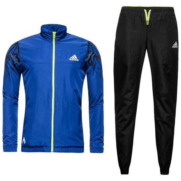 adidas Trainingsanzug Ace BlauSchwarzGelb Kids