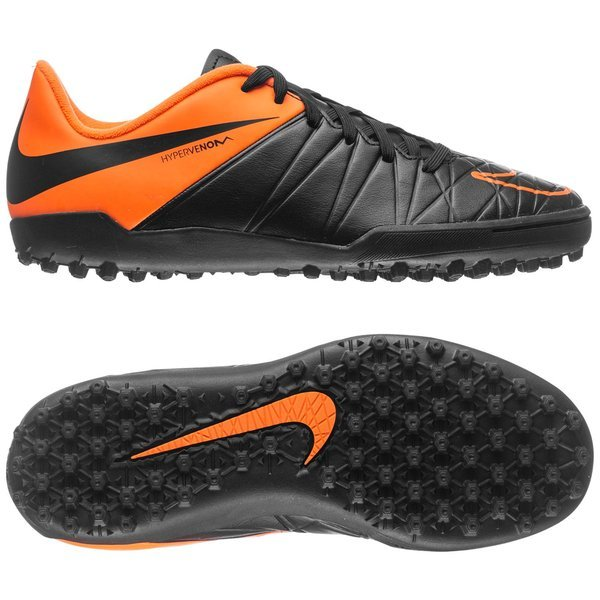 9f3a0b2a93c0 nike hypervenom phelon ii tf black total orange kids ...