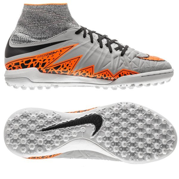 separation shoes 12542 ea33b Nike HypervenomX Proximo TF Wolf Grey Total Orange Black Kids    www.unisportstore.com