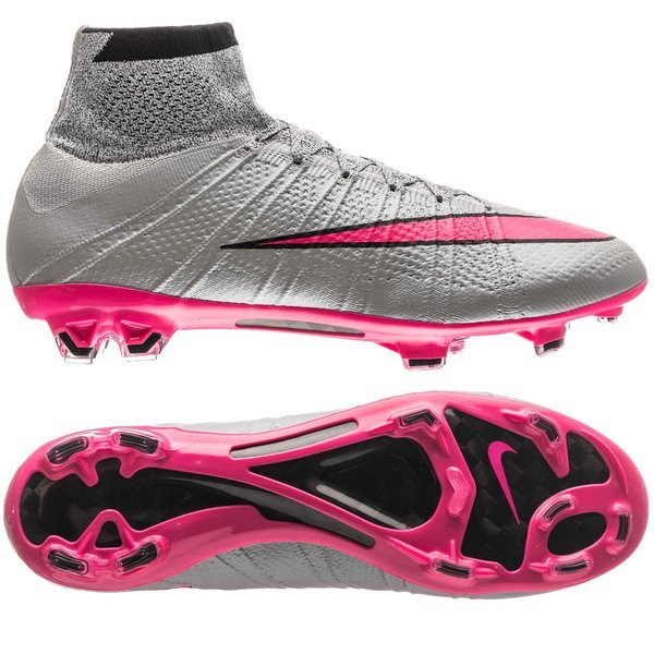 official supplier on sale stable quality Nike Mercurial Superfly FG Wolf Grey/Hyper Pink/Black