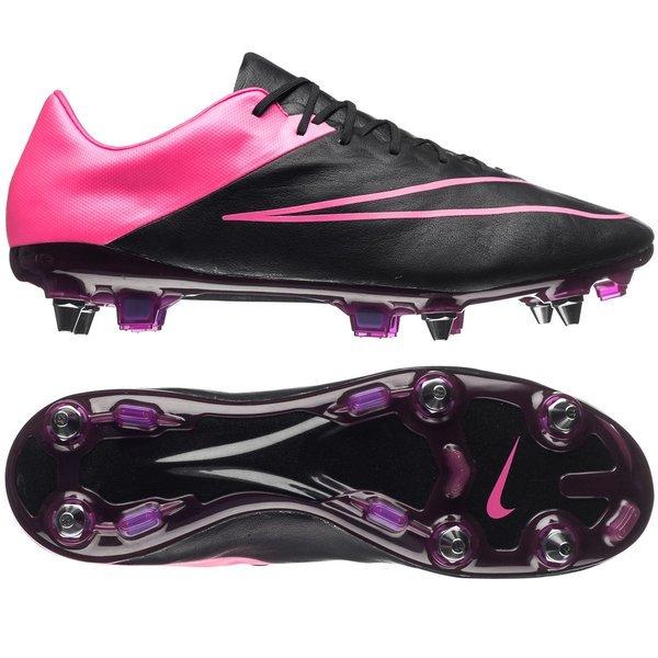 huge selection of 6b3ac d8498 Nike Mercurial Vapor X Leather SG-PRO Black/Hyper Pink | www ...