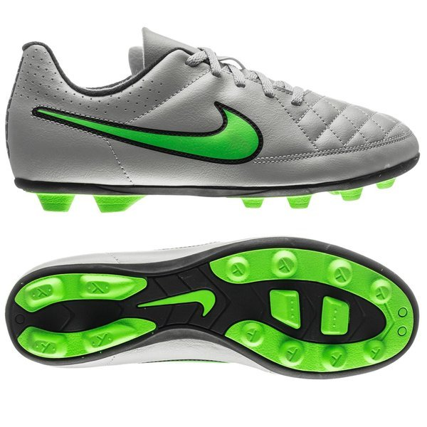 38d0a9a8c009 35.00 EUR. Price is incl. 19% VAT. -48%. Nike Tiempo Rio II FG Wolf Grey/Green  Strike/Black Kids