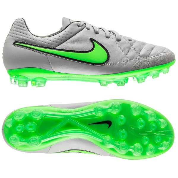 new concept 1dbd1 e4162 Nike Tiempo Legend V ACC AG Wolf Grey/Green Strike/Black ...