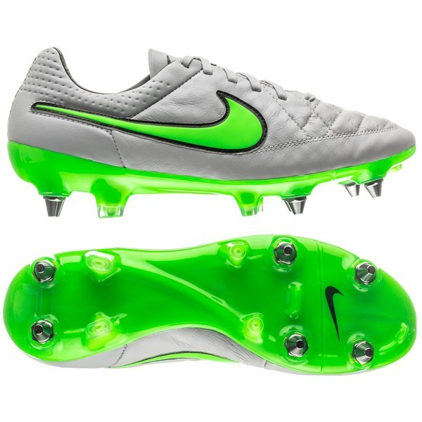 new concept cc61b 6bbe0 Nike Tiempo Legend V ACC SG-PRO Wolf Grey/Green Strike/Black ...