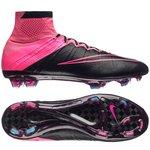 Nike Mercurial Superfly Leder FG Schwarz/Pink