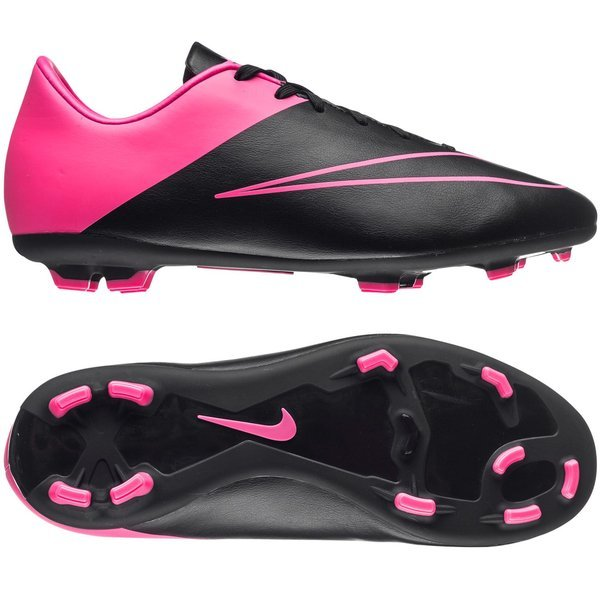 best loved 7ff1f 72731 Nike Mercurial Victory V FG Black/Hyper Pink Kids | www ...