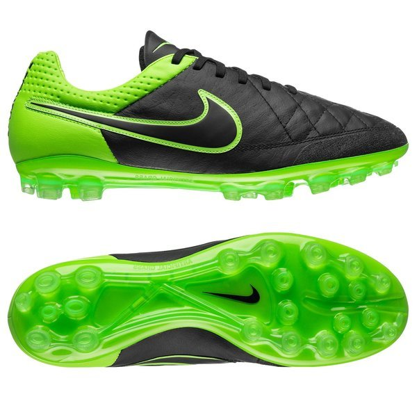 new style b112b 7149c Nike Tiempo Legend V AG Black/Green Strike | www ...