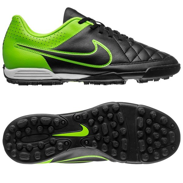 Retocar Instruir Corea  Nike Tiempo Rio II TF Black/Green Strike | www.unisportstore.com