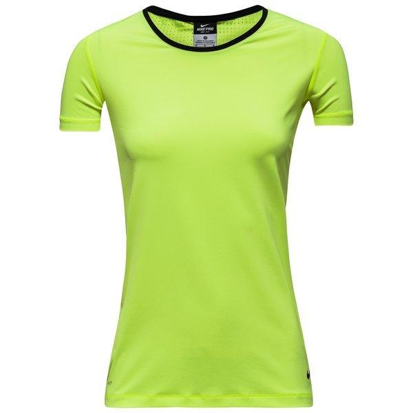 Nike T Shirt Pro Hypercool Jaune Fluonoir Femme