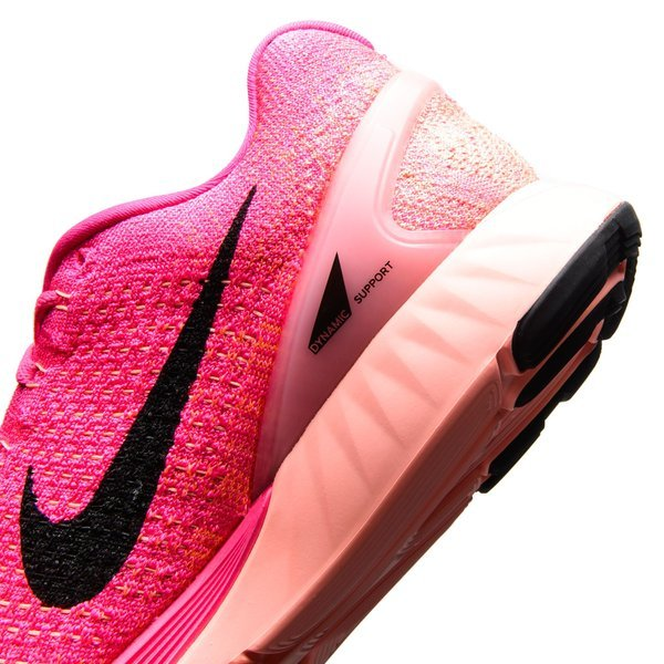 new arrival 6feb2 8ac11 Nike Running Shoe Lunarglide 7 Pink Foil Pink Pow Sunset Glow Black Women
