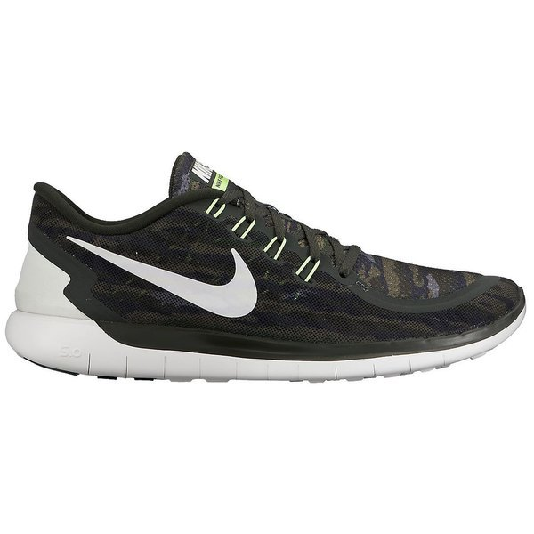 Nike Free Running Shoe 5.0 Print SequoiaTurbo GreenCrystal GreenSummit White