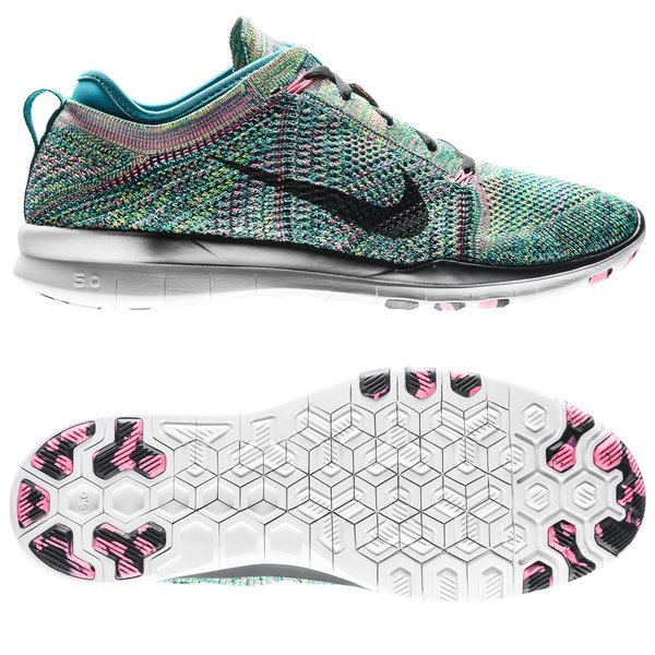 0c31f345ec4d Nike Free TR 5 Flyknit Radiant Emerald Black Pink Pow Women. Read more  about the product. - running shoes. - running shoes image shadow
